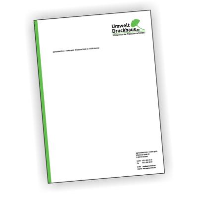 Briefbogen auf 80 g/m² PrePrint, Artikelnummer: 1001