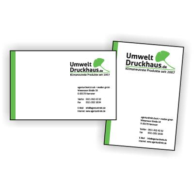 Visitenkarten auf 300 g/m² Offset, Artikelnummer: 8002